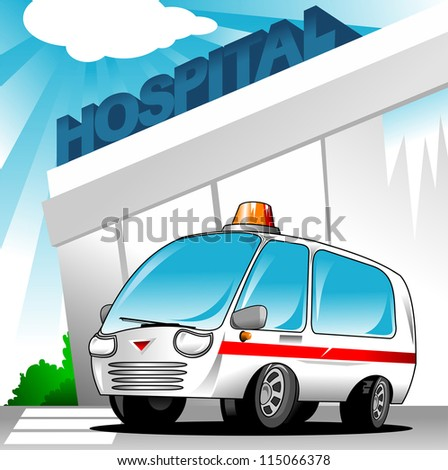background; part of a first responder series; lighted night version also available; - stock vector
