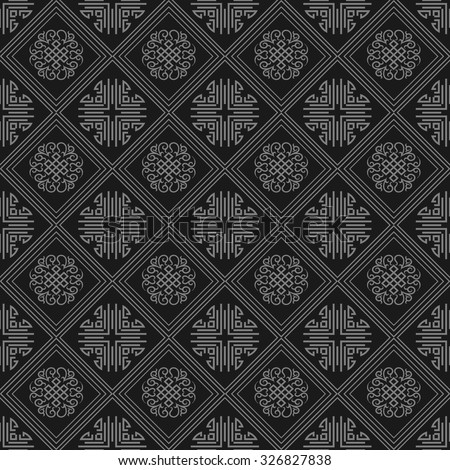 Chinese Geometric Patterns Vector