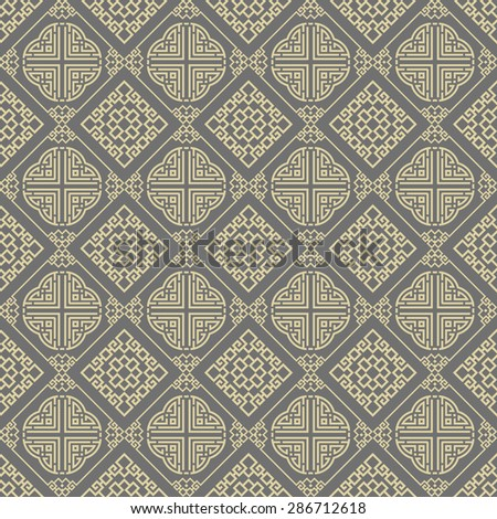 Background pattern. Asian style texture: Chinese, Japanese, Indian. Geometric pattern. Modern wallpaper for your design. Wallpaper pattern. Vector background.  - stock vector