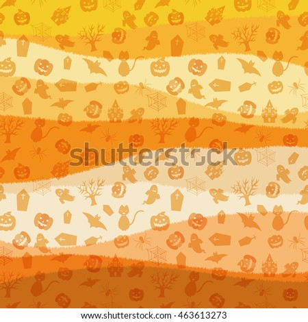 Background pattern studded Halloween items