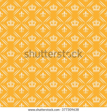 background pattern, vintage style, graphic design, vintage pattern, yellow - stock vector