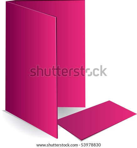 Background pink business card and document case - stock vector