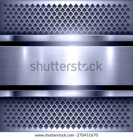 Background, polished metal texture, metallic vector illustration. - stock vector