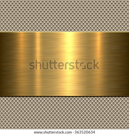 Background, polished metal texture, vector. - stock vector