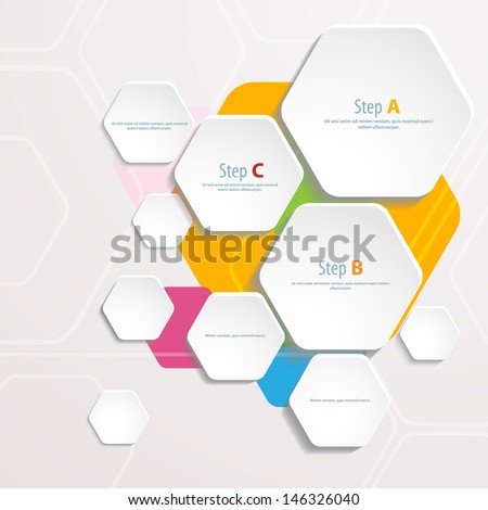 Background Polygons Cut Paper Design Template Stock Vector 146326040 ...