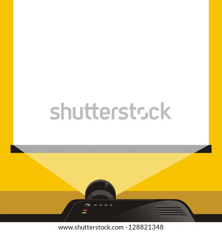 Background projector presentation - stock vector