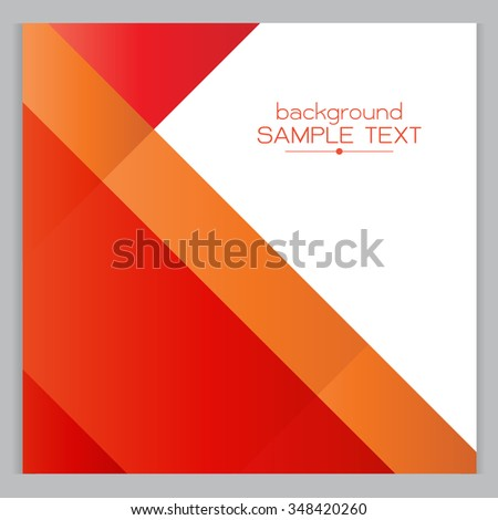 background red Orange geometric Square with designed elegant abstraction. Vector illustration. - stock vector