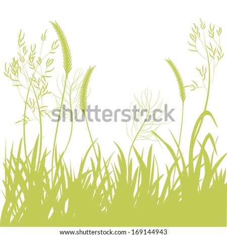 background silhouette of motley grass. vector illustration