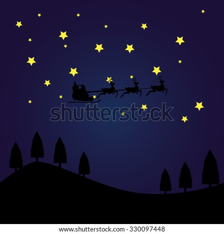 background silhouette of Santa Claus