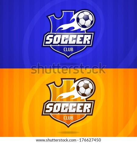 Background soccer club emblem - stock vector