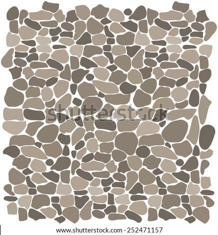 Background Stone Wall ,Vector illustration