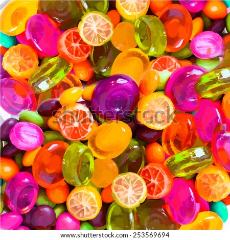 background sweet candy. Vector