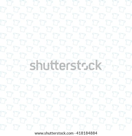 Background t-shirt vector illustration. Template t-shirt. Seamless pattern with t-shirts. Bright white background - stock vector