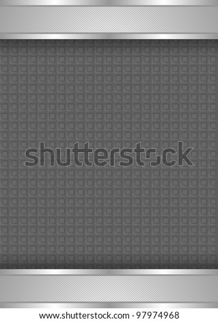 Background template, metallic texture. High tech wallpaper wall - stock vector