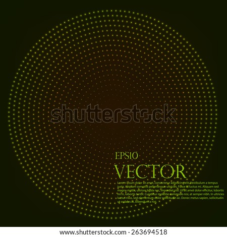 Background, vector illustration halftone round - stock vector
