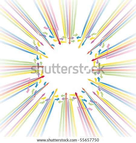 Background vector illustration with arrows abstract