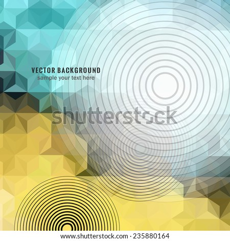 Background. Vector template in high-tech style.  - stock vector