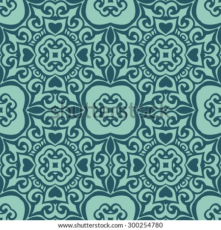 Background vintage flourish tiles. Seamless classical damask pattern. Abstract wallpaper. Texture royal vector. Fabric illustration. - stock vector