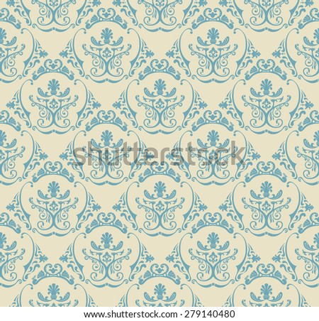 Background vintage. Seamless wallpaper floral pattern texture - stock vector