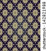 Background with a seamless pattern in Arabian style. Geometric floral pattern. - stock vector