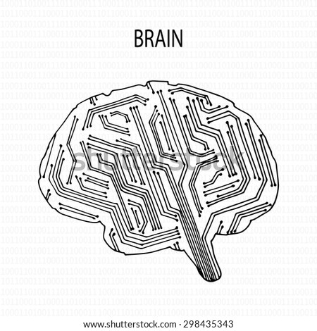Background with abstract human brain. The concept of thinking.