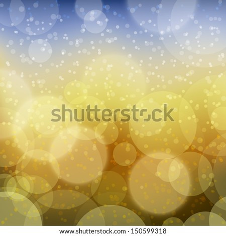 Background with abstract mystic bokeh lights. Vector illustration