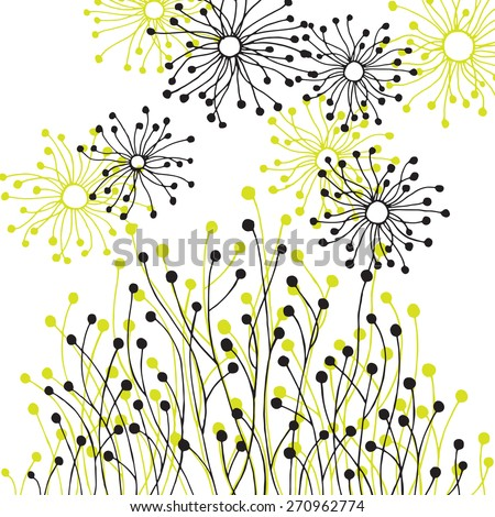 background with abstract patterns symbolizing nature - stock vector