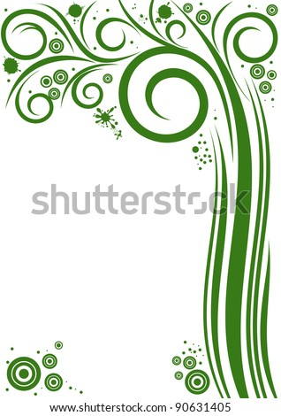 Background with abstract Tree. Illustration with free space for Your text - stock vector