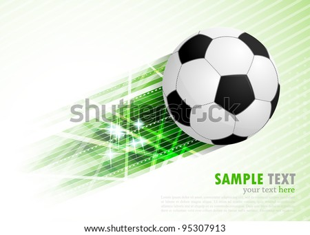 Background with ball - stock vector