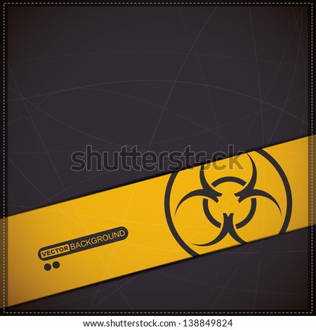 Background with biohazard symbol - stock vector