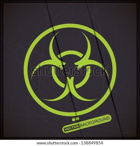 Background with biohazard symbol - stock vector