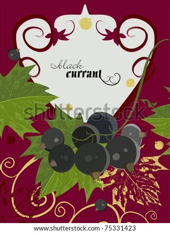 Background with blackcurrant