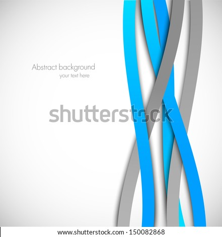 Background with blue and gray lines - stock vector
