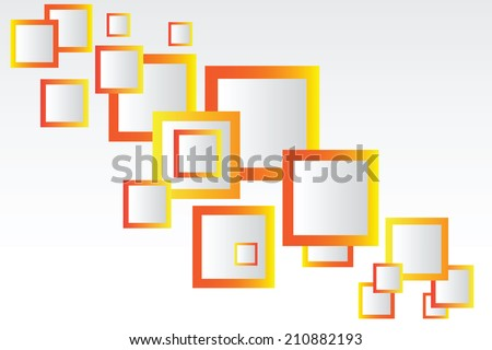 Background with bright orange squares