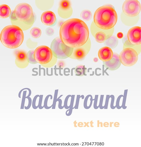 Background with bubbles - stock vector