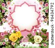 Background with butterflies, hearts and roses for Valentine's day - stock photo