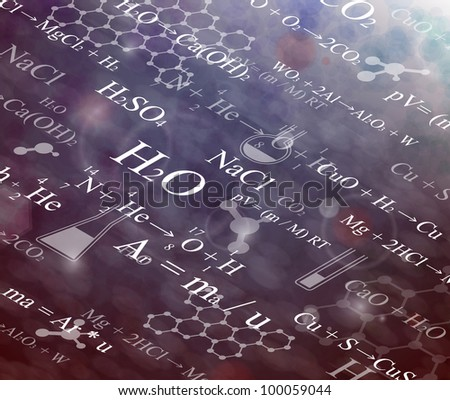 Background with chemical formulas. Eps 10 - stock vector