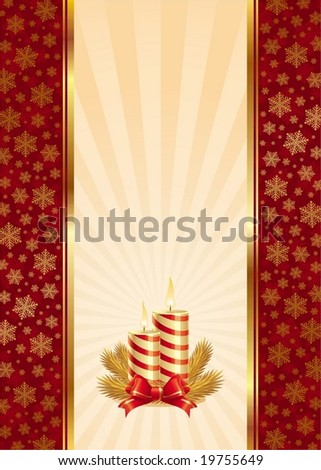 Background with Christmas candles