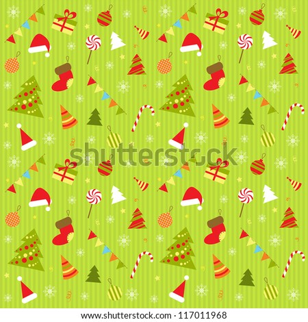 background with christmas elements - stock vector