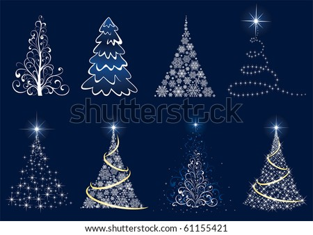 Background with Christmas tree, illustration