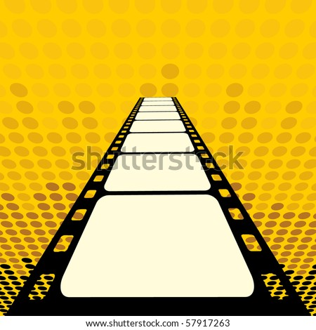 Background with Cinema Motives - stock vector