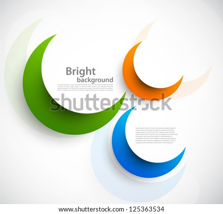 Background with circles. Abstract illustration - stock vector