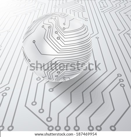 Background with circuit board texture