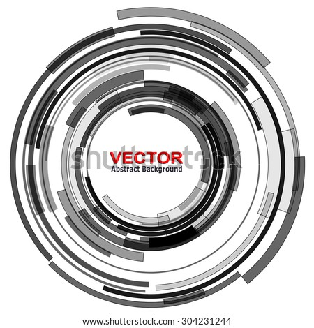 Background with circular abstract lens design, vector illustration.
