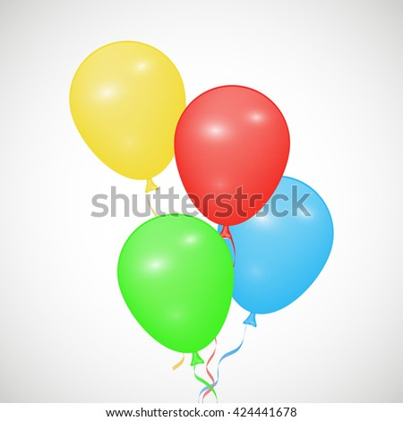 Background with colorful balloons, shiny balloons