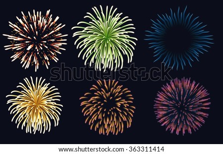 Background with colorful fireworks, EPS 10 contains transparency.