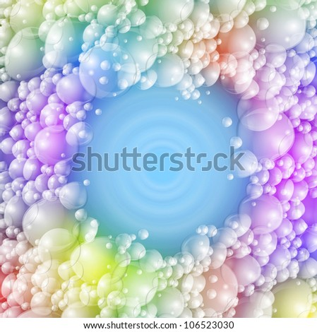 Background with colorful foam. Eps 10 - stock vector