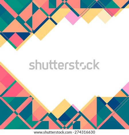 Background Colorful Geometric Shapes Greeting Card Stock