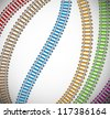 Background with colorful rails. Eps 10 - stock photo
