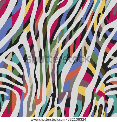 Background with colorful Zebra skin pattern - stock vector